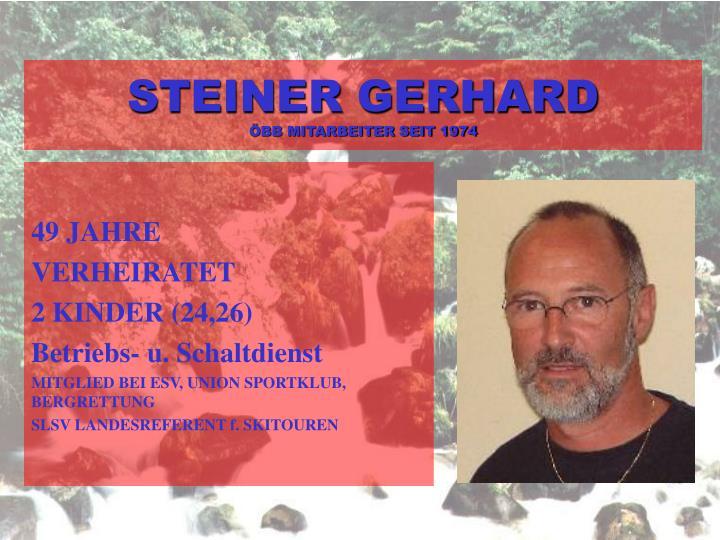 STEINER GERHARD