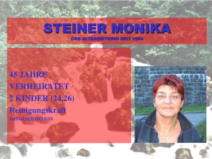 STEINER MONIKA