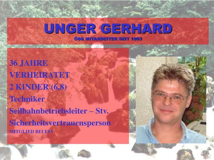 UNGER GERHARD