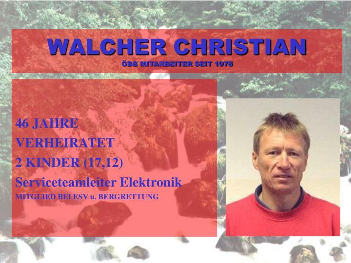 WALCHER CHRISTIAN