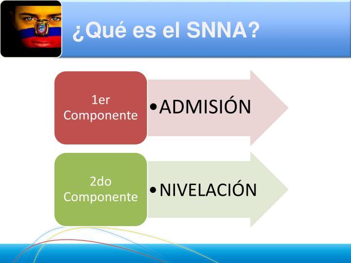 ¿Qué es el SNNA?