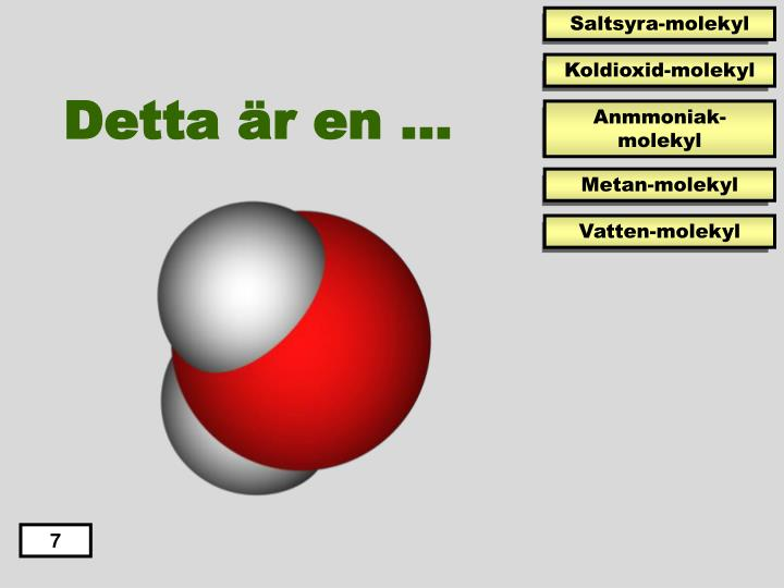 Saltsyra-molekyl