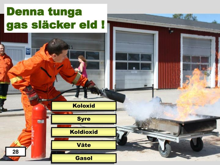 Denna tunga gas släcker eld !
