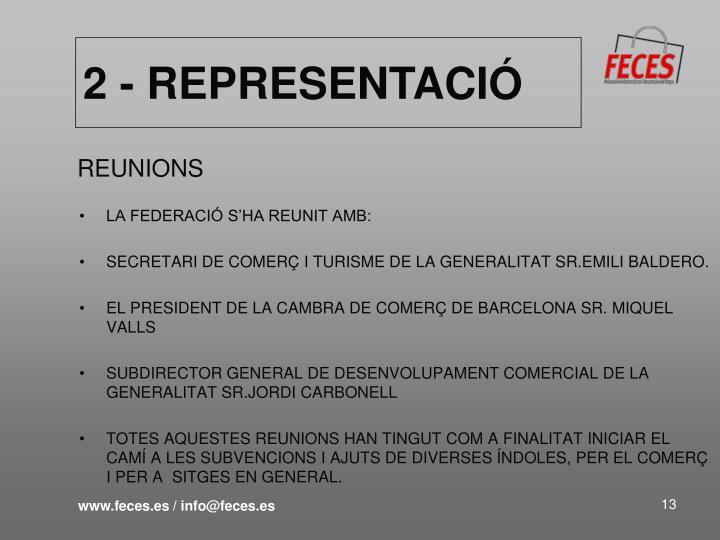 2 - REPRESENTACIÓ