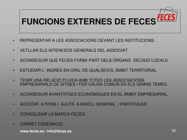 FUNCIONS EXTERNES DE FECES