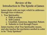 review of the introduction to the epistle of james1