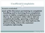 unofficial complaints