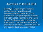 activities of the eildpa3