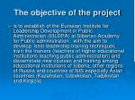 the objective of the project