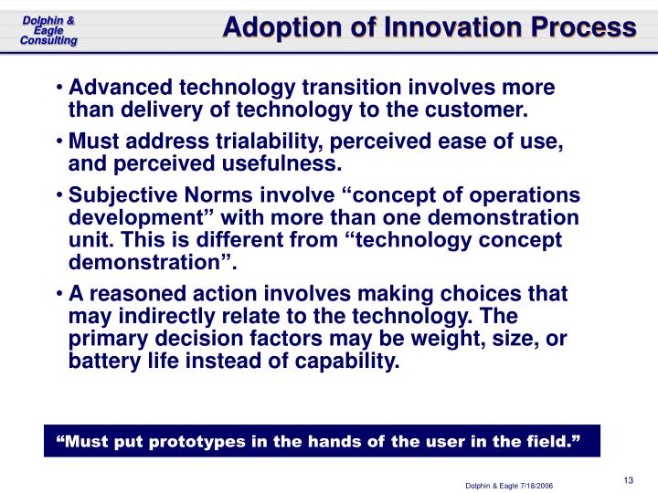 Adoption of Innovation Process