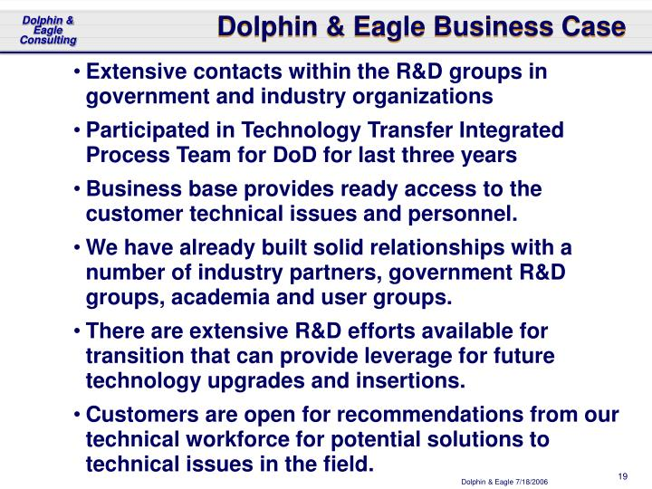 Dolphin & Eagle Business Case