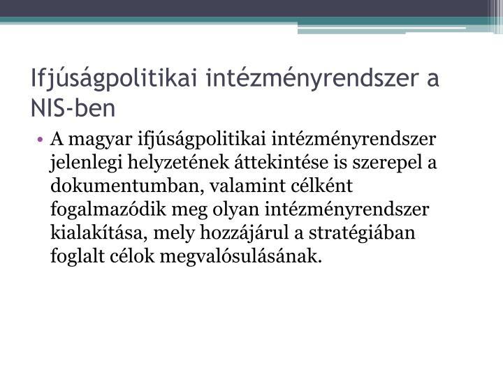 Ifjúságpolitikai intézményrendszer a