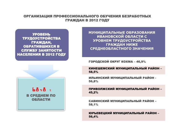 ОРГАНИЗАЦИЯ ПРОФЕССИОНАЛЬНОГО ОБУЧЕНИЯ БЕЗРАБОТНЫХ ГРАЖДАН В 2012 ГОДУ