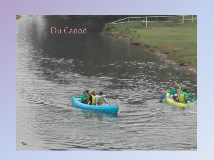 Du Canoë
