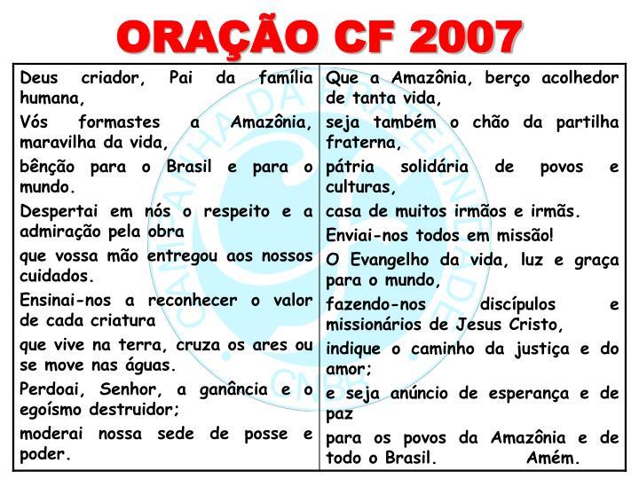 ORAÇÃO CF 2007