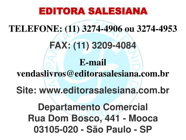 EDITORA SALESIANA