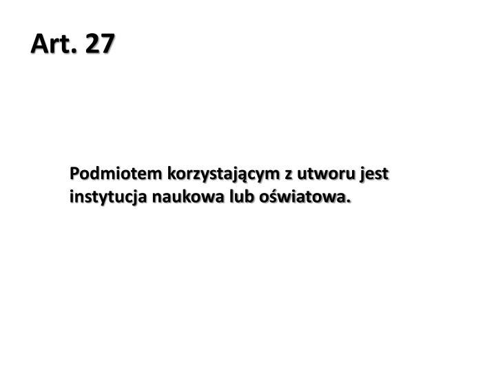 Art. 27