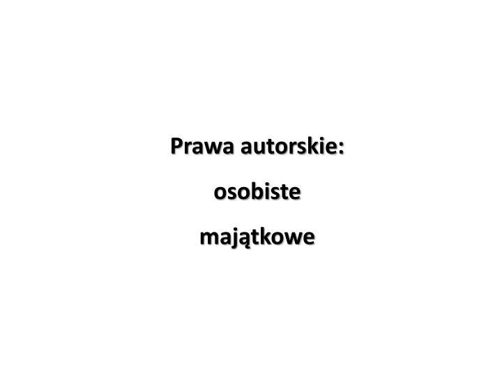 Prawa autorskie:
