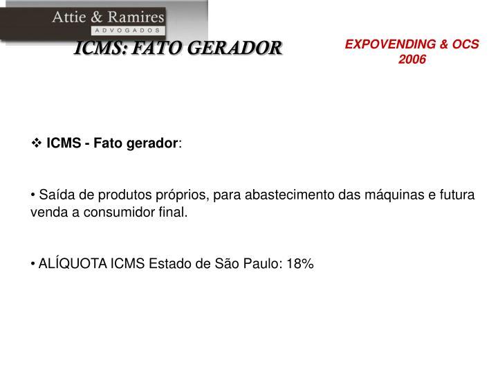 ICMS - Fato gerador