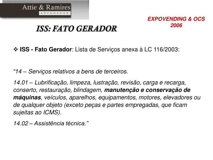 ISS - Fato Gerador