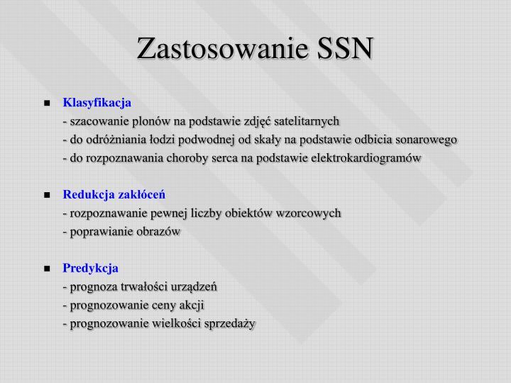 Zastosowanie SSN