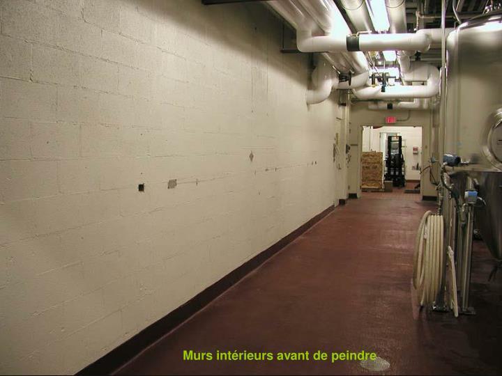 Murs intérieurs avant de peindre