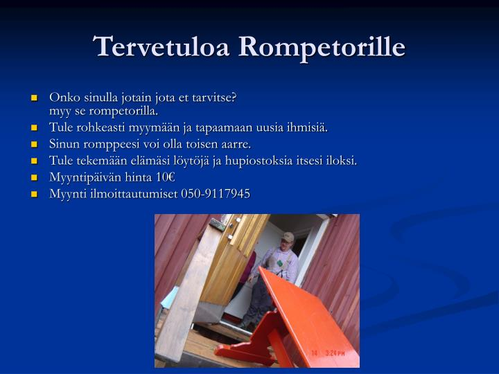 Tervetuloa Rompetorille