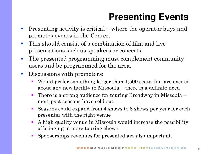Presenting Events