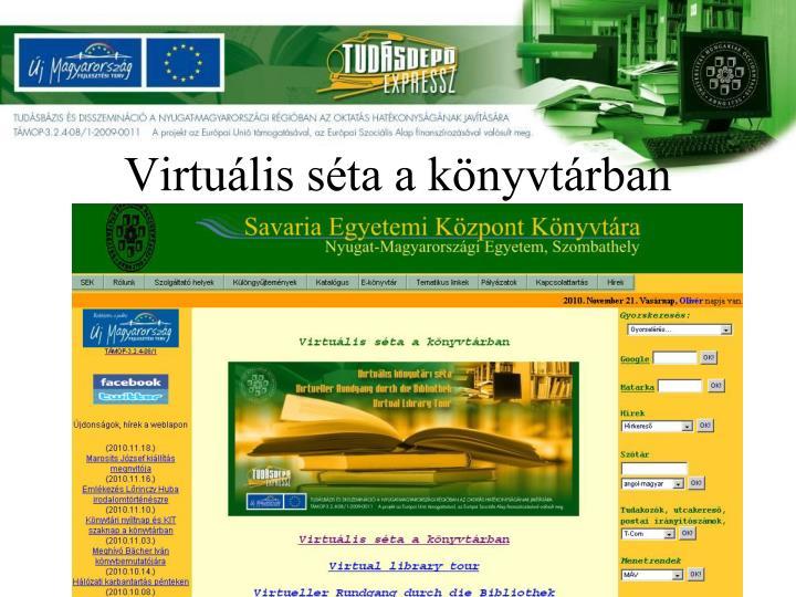 Virtuális séta a könyvtárban
