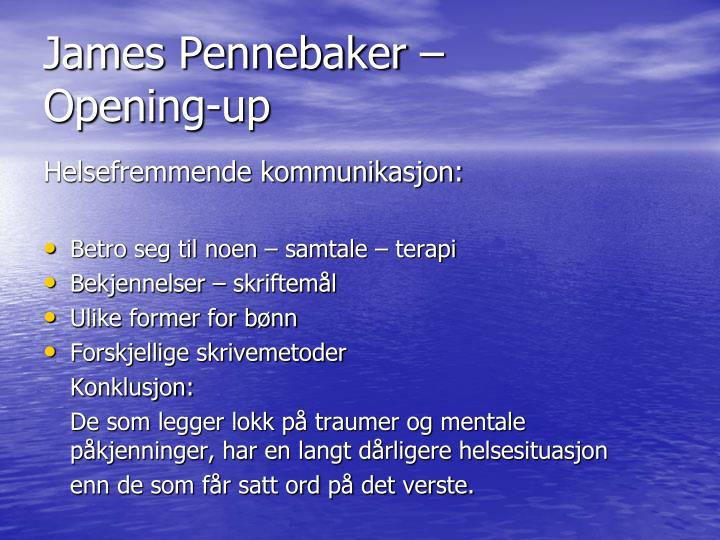 James Pennebaker –