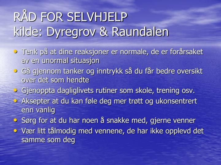 RÅD FOR SELVHJELP