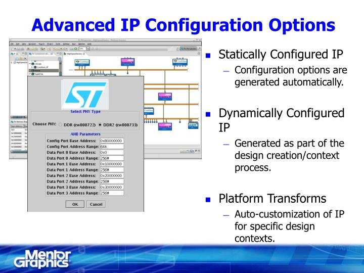 Advanced IP Configuration Options