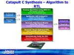 catapult c synthesis algorithm to rtl