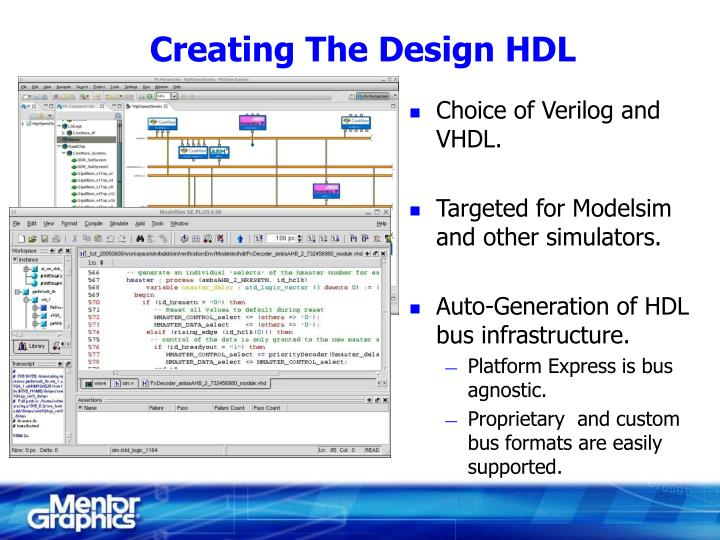 Creating The Design HDL