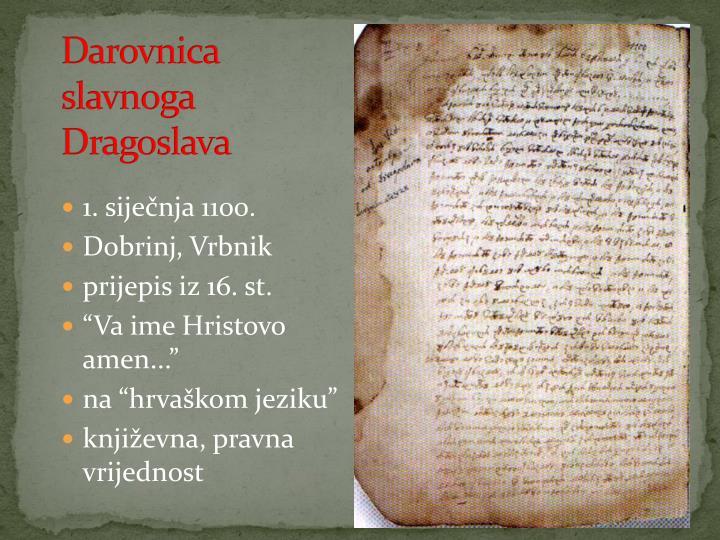 Darovnica slavnoga Dragoslava