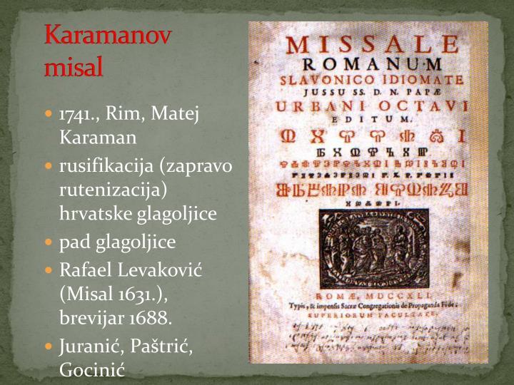 Karamanov misal