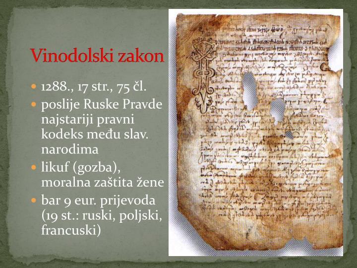 Vinodolski zakon