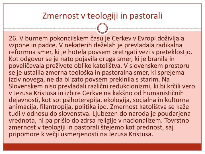 Zmernost v teologiji in pastorali