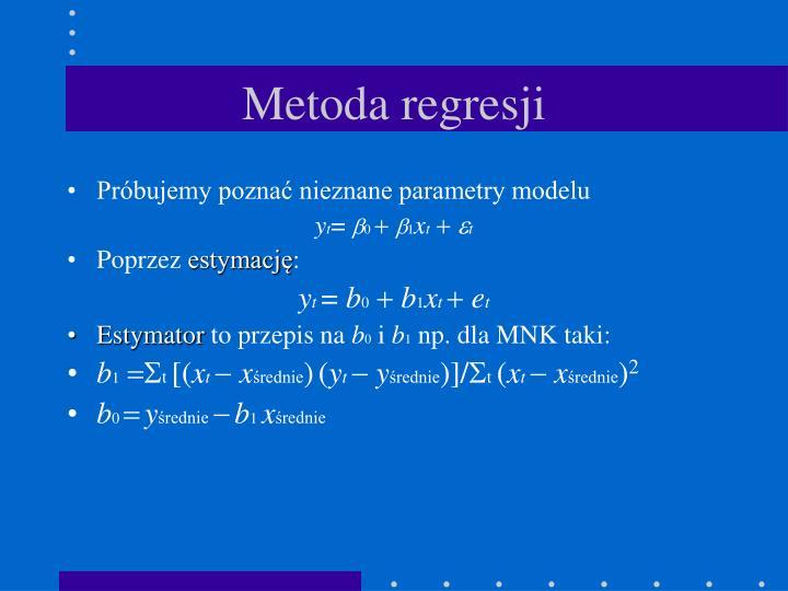 Metoda regresji