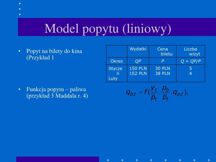 Model popytu (liniowy)