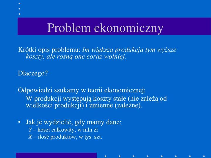 Problem ekonomiczny