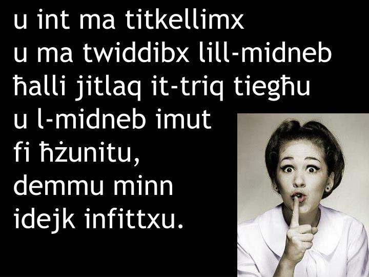 u int ma titkellimx