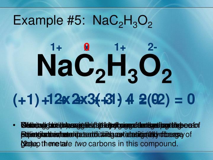Example #5:  NaC