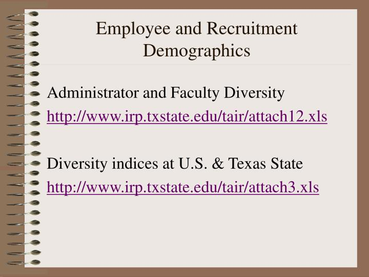 Employee and Recruitment Demographics