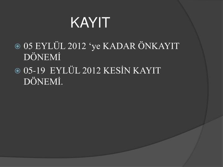 KAYIT