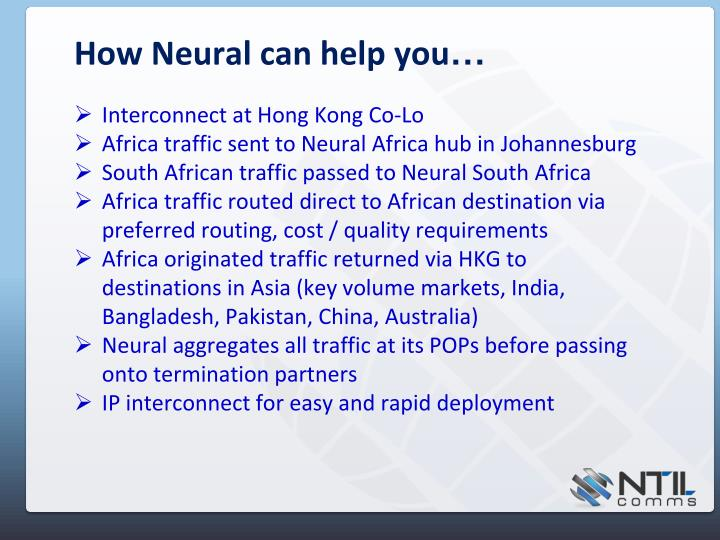How Neural can help you