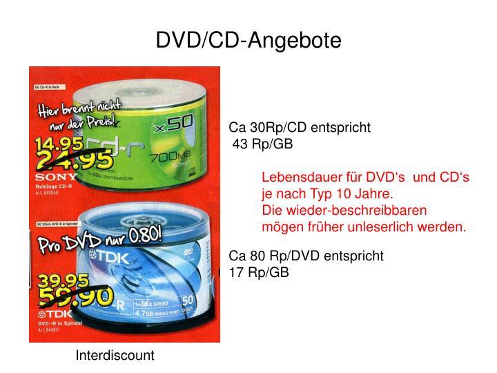 DVD/CD-Angebote