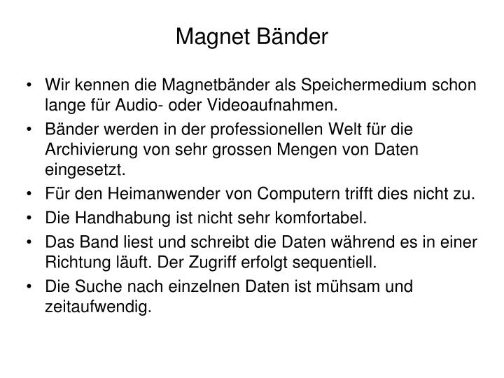 Magnet Bänder