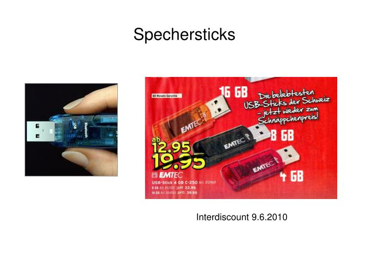 Spechersticks