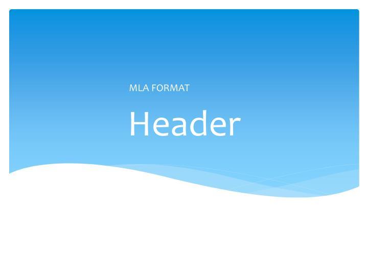 mla format for powerpoint presentation